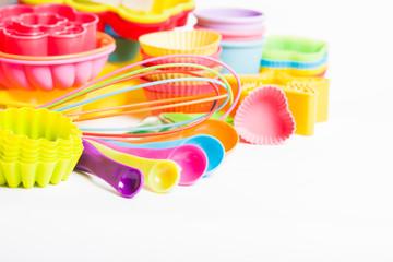 Rainbow silicone confectionery utensils