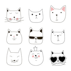 cute cat illustration series