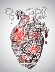 Illustration mechanical heart