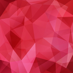 Background made of red triangles. Square composition with geometric shapes. Eps 10