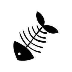 Cartoon fish skeleton icon vector illustration graphic design