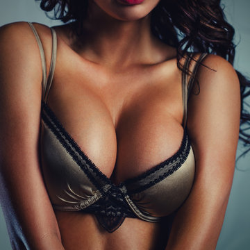 Sexy woman breast