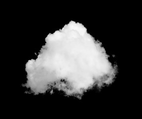 cloud on black