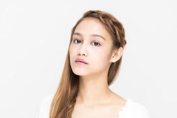 Portrait of beautiful girl, half latina and half asian