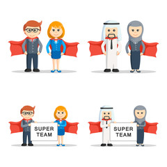 super business people set