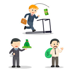 businessman and money set