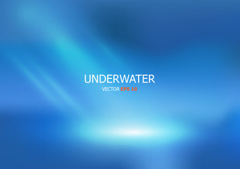 Vector Underwater background with wave lights.