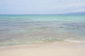 Seashore landscape sandy beach