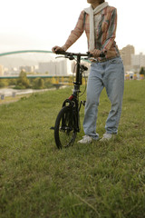 Bicycler in the field
