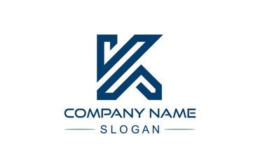 logo letter k line