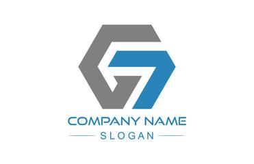 logo letter g hexagonal