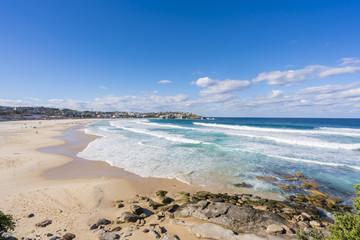 Bondi Beach and apartments in Sydney, Australia