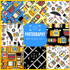 Photography seamless patterns set