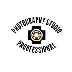 Photo studio or professional photographer logo template
