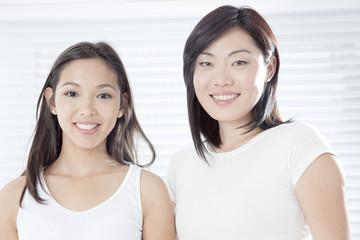 Young women smiling