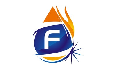 Water Fire Flame Gas Oil Initial F