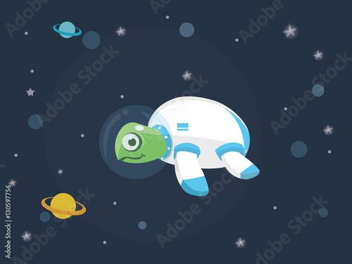 """turtle in space with space suit"" obrazów stockowych i ..."