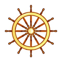 Steering wheel Marine. Steering wheel. Illustration