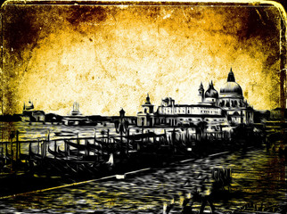 Venice art illustration
