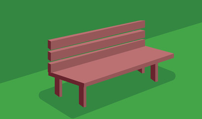 wooden bench on a floor vector design