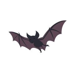 flying bat cartoon vector