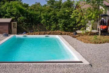 chantier piscine