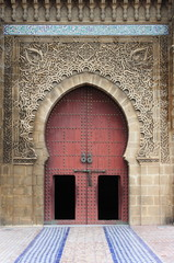 Mausoleum of Mouley Ismail in Meknes, Morocco
