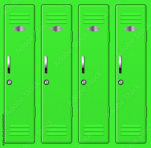 By the green lockers