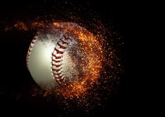 迫力ある野球のボール