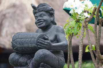 indonésie, lombok, statue, architecture, bouddha,