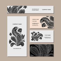 Business cards design, floral mandala
