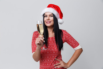 Photo of girl with champagne