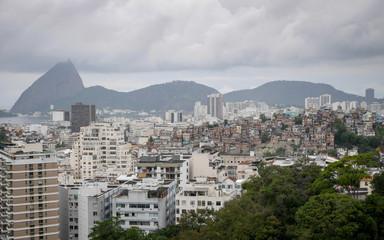 Rio de Janeiro rooftops and favela