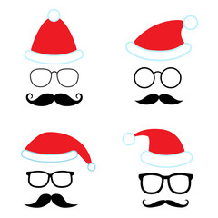 Christmas party vector set