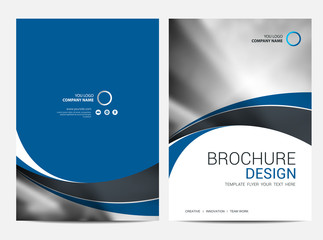 Brochure template Annual report background for business design