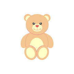 Teddy bear. Vector icon.