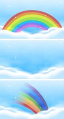 Sky scene with beautiful rainbow