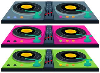 Three colors of disc jocking machine