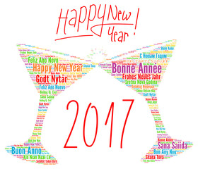 Happy New Year 2017 in different languages