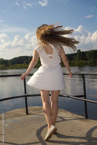 Hairy women outdoors