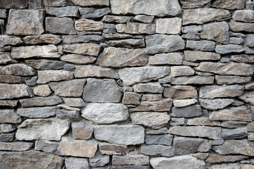 Grey stone siding with different sized stones Wall mural