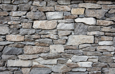 Grey stone wall with different sized stones, modern siding Fototapete
