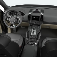 Luxury SUV interior isolated on white. 3D illustration