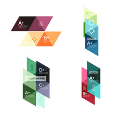 Vector set of colorful geometric infographics