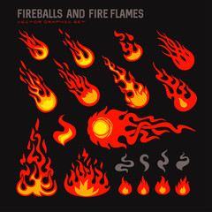 fireballs and flame