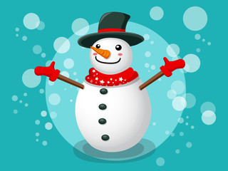 Snowman Christmas and New Year Vector 6