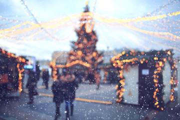 Christmas city landscape background blur sale Fotomurales