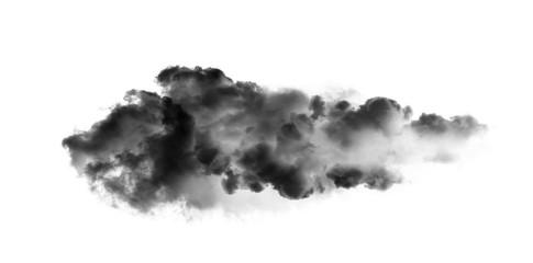 Canvas Prints Heaven black cloud on white background