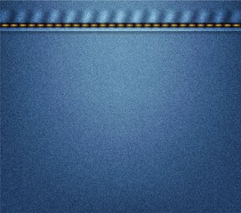 Jeans background. Vector texture. Fabric textile design.