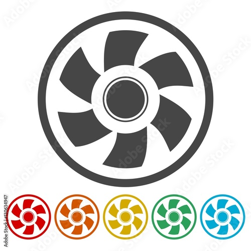 Exhaust Fan Icons Set Stock Image And Royalty Free Vector Files On